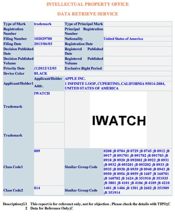 img 51d2c048395c3 Apple vraagt iWatch handelsmerk aan in nog meer landen