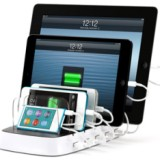 Vijf iOS-apparaten tegelijkertijd opladen met de Griffin PowerDock