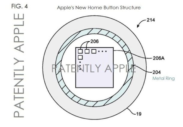 img 522c720952a52 Apple patent toont vingerafdrukscanner in home button met NFC
