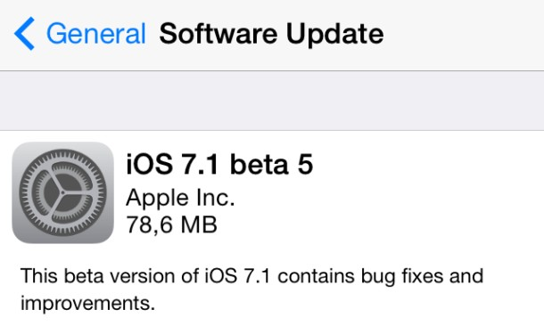 img 52f12b609e240 Apple geeft iOS 7.1 beta 5 vrij