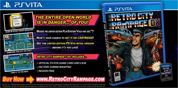 PS Vita versie Retro City Rampage krijgt gelimiteerde PS Vita retailrelease