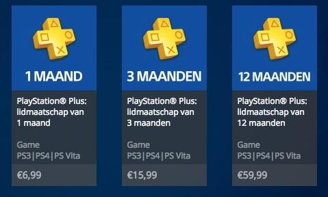 Afbeeldingsresultaat voor playstation plus prijzen