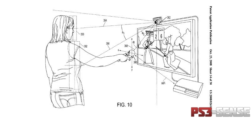 Sony Motion sensing PS3 Controller patent