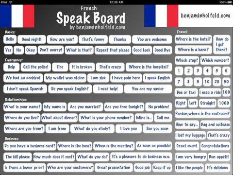 french speak board: frans leren op je ipad tijdelijk gratis - applespot