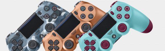 Sony kondigt nieuwe DualShock 4 kleuren Berry Blue, Sunset Orange, Blue Camo en Copper aan