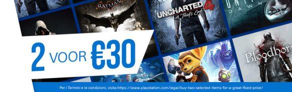 Twee games voor €30,- promotie in de PlayStation Store