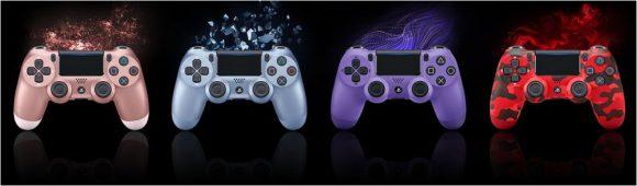 Sony kondigt vier nieuwe DualShock 4 kleuren aan